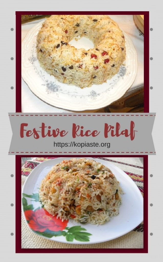 Collage Festive Rice Pilaf image
