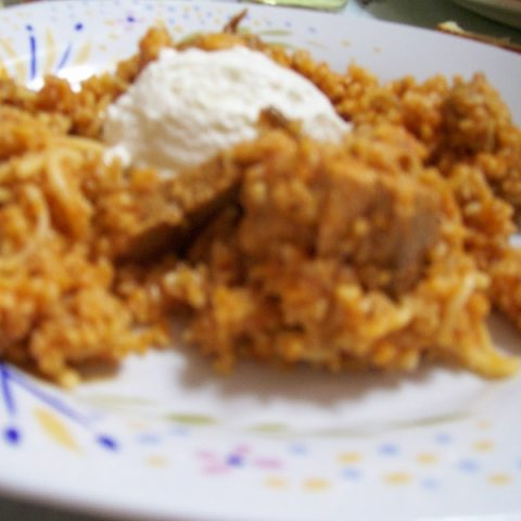 bulgur pilaf with meat image