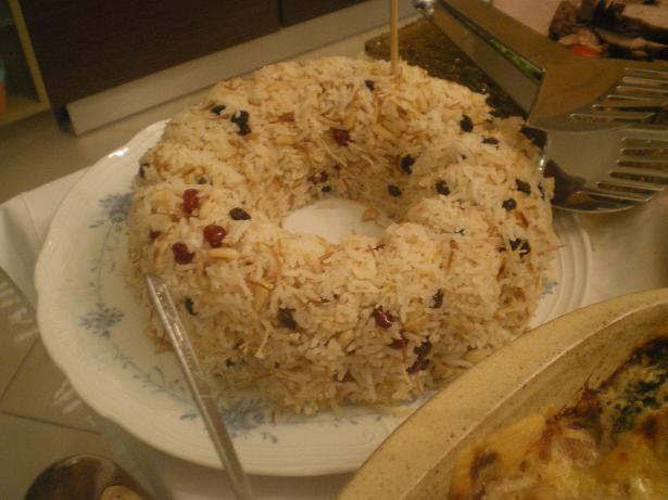 rice pilaf with raisins and pine nuts image