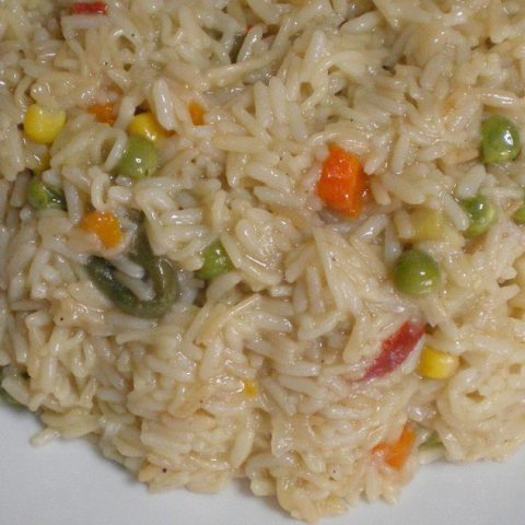rice with vegetables and vermicelli image