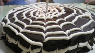 Chocolate Cobweb Cake