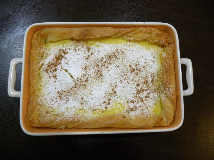 Galatopita with phyllo