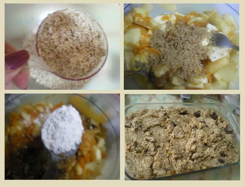 collage autumn fruit crumble image