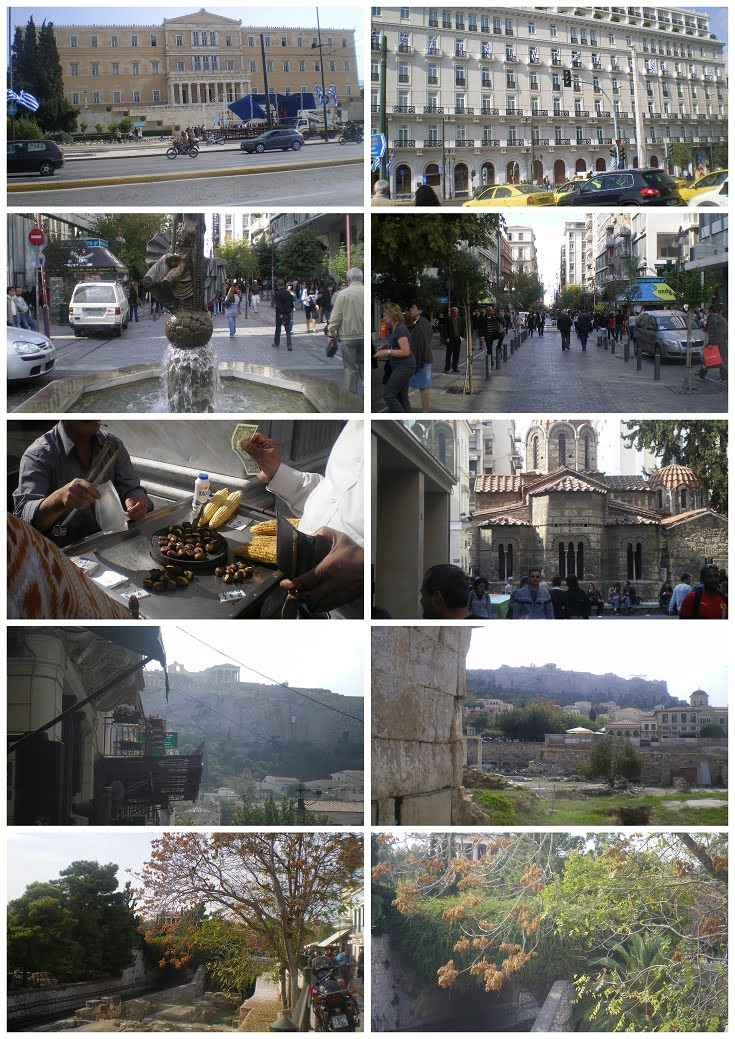 collage from Syntagma to Monastiraki 27 Oct 2008 image