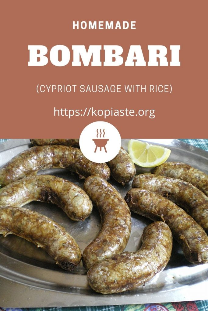 Collage Bombari sausage image