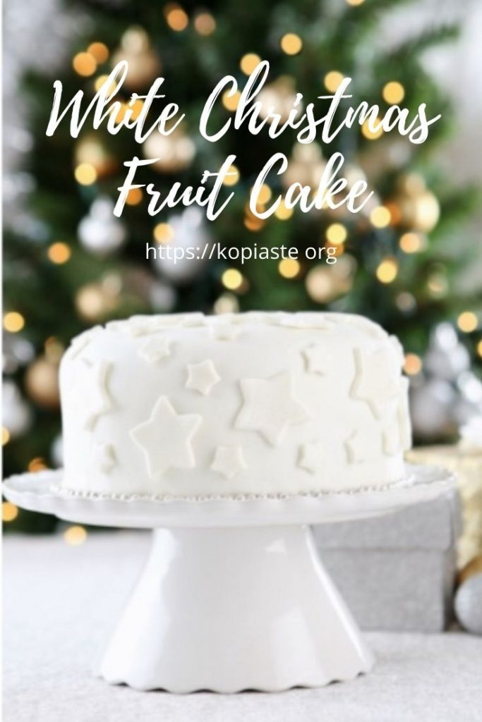 Collage White Christmas Cake image