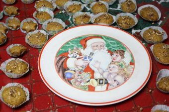 Melomakarona Honey Cookies with Christmas platter image