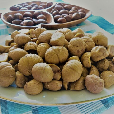 chestnuts boiled and peeled image