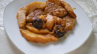 Pork Tenderloin with Quince, Prunes and Chestnuts