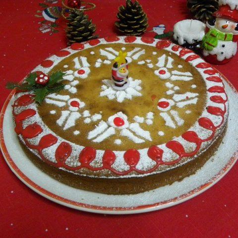 Orange Flavoured Vassilopita 2013 new year's cake image
