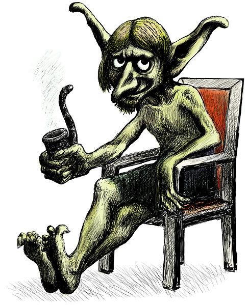 Kalikantzari or goblin image