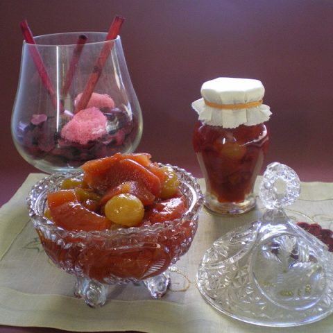 Quince and chestnuts preserve image