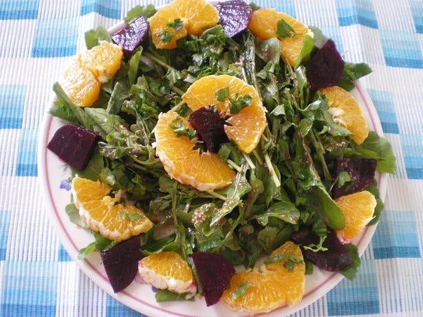 Rocket, beet and orange salad2