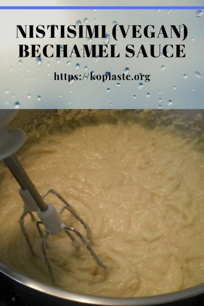 Collage vegan Béchamel Sauce image