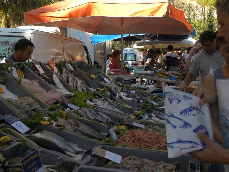Farmers market fish image