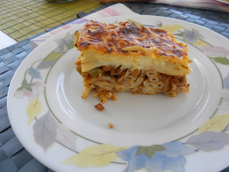 Pastitsio Nistisimo (Vegan) and Vegetarian Pastitsio