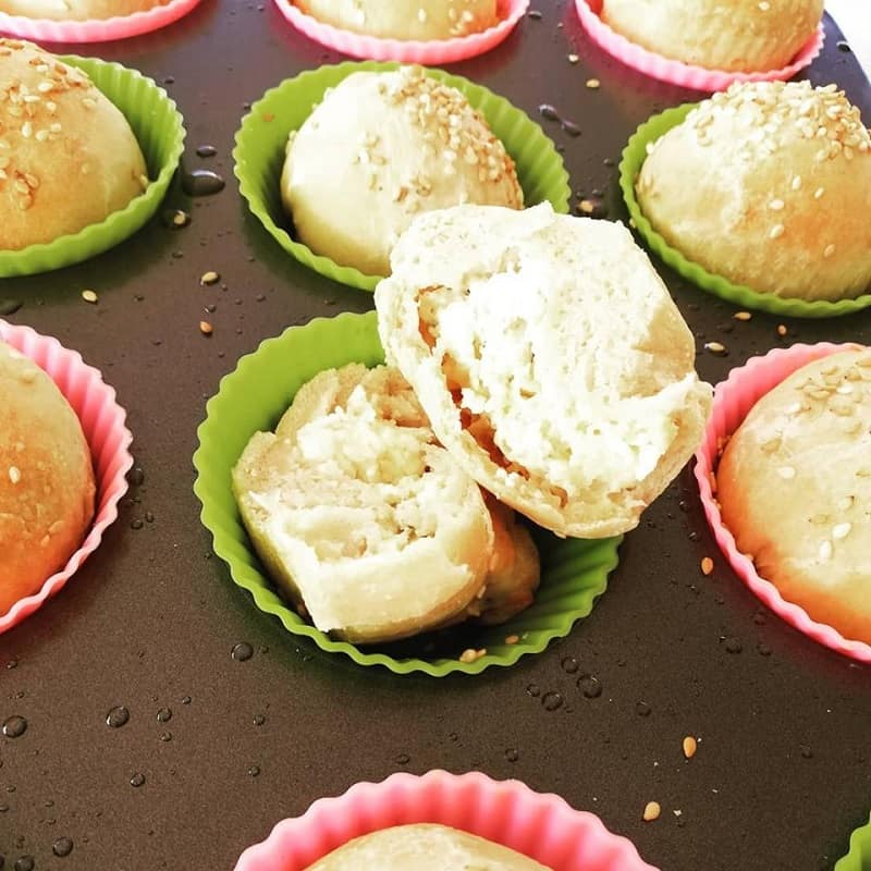 Graviera and feta mini bread rolls image