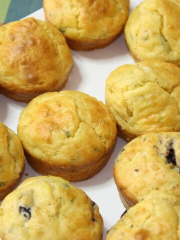Greek Muffins with Kalamata Olives and Greek Cheese