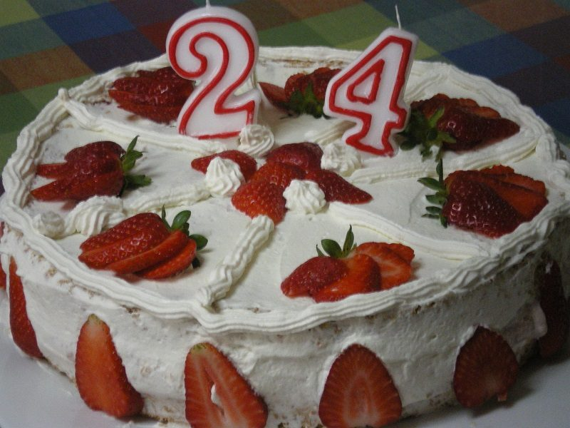 Kyriacos White Chocolate and Strawberry Mousse Birthday cake