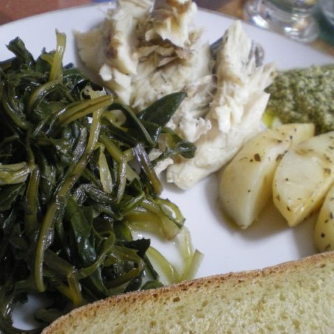 fish and pesto image