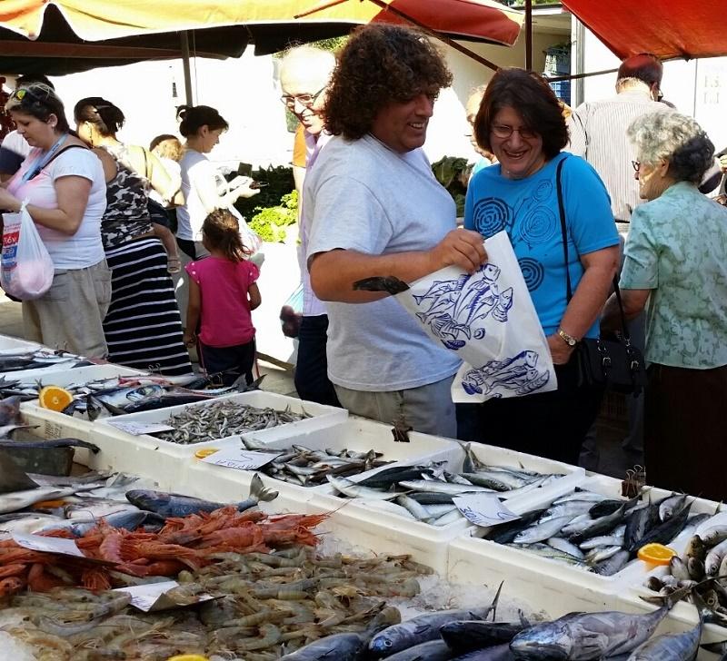 Fish at farmers market  Nafplio image