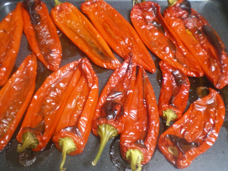 Grilled red peppers image