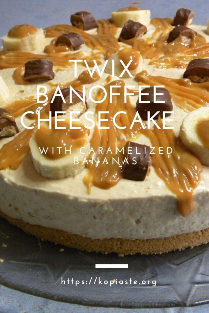 Collage Twix Banoffee Cheesecake image