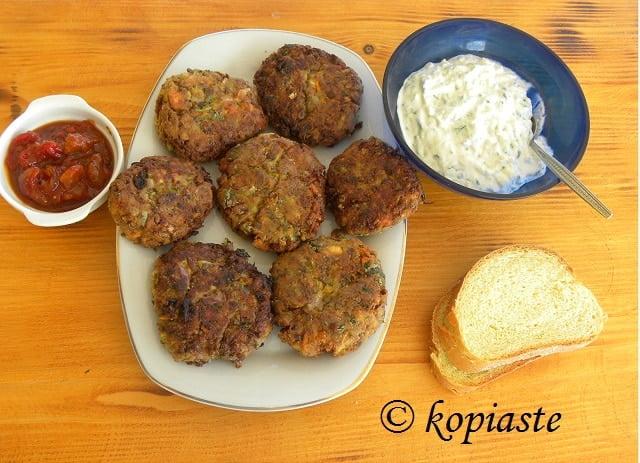 Fakokeftedes, Healthful Greek Lentil Burgers, with leftovers