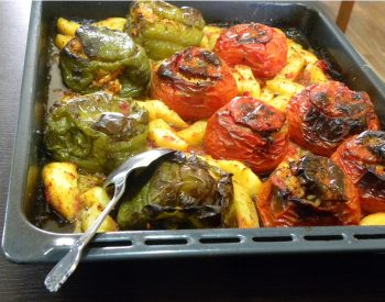 Gemista stuffed tomatoes and peppers