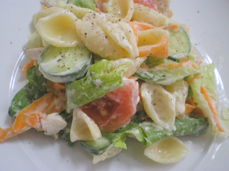 Souvlaki Pasta salad image.