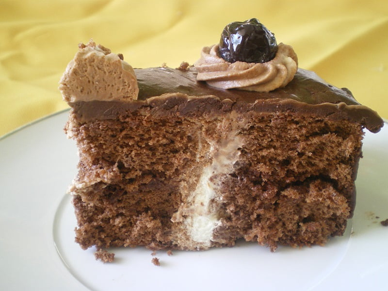 Bailey's flavoured chocolate cake image