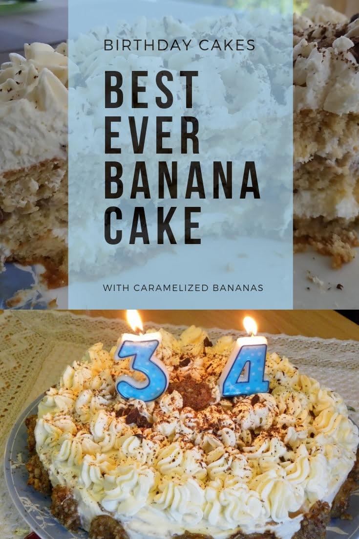 Best Ever banana cake with caramelized bananas image