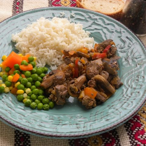 Braised Chicken Livers image