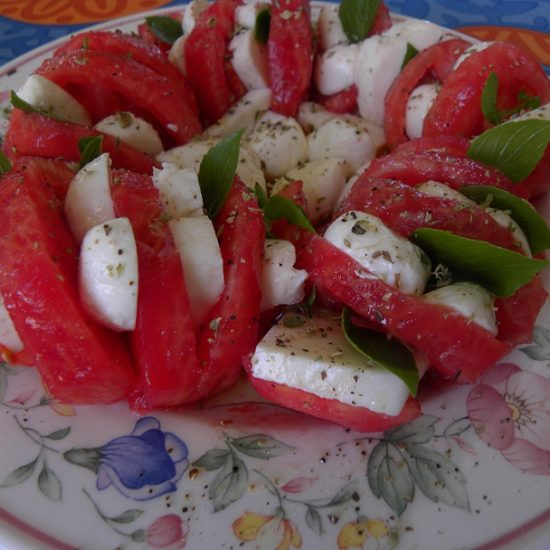 A different approach to Insalata Caprese