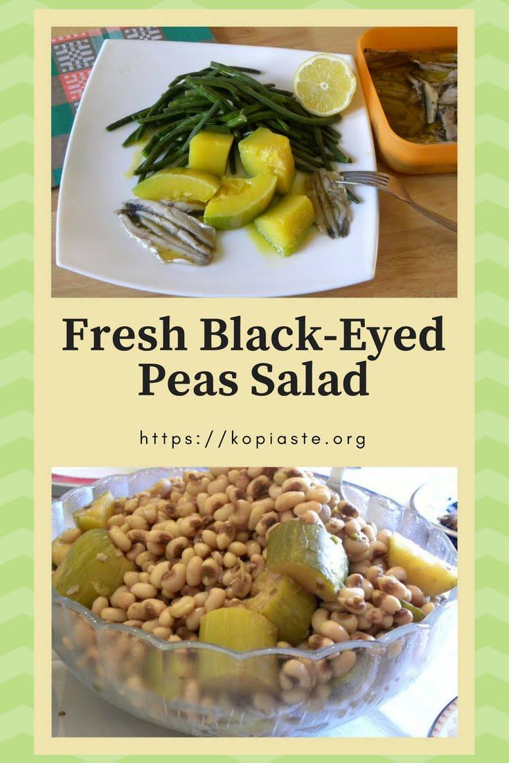 Fresh black-eyed peas salad picture