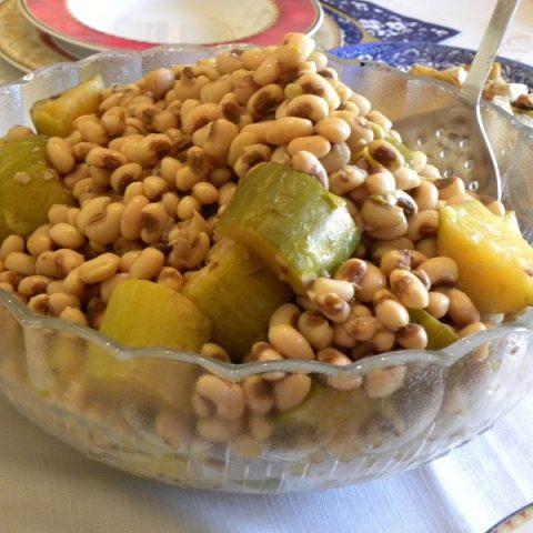 ampelofassoula louvi cooked with kolokoui image