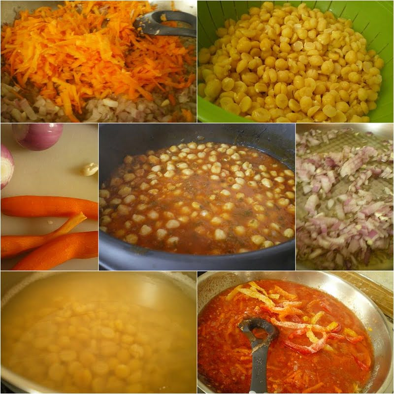 collage Revithia sti Gastra stewed chickpeas picture