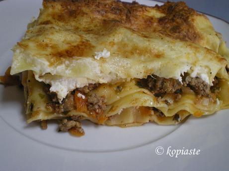 Greek Style Lasagne with Anthotyro