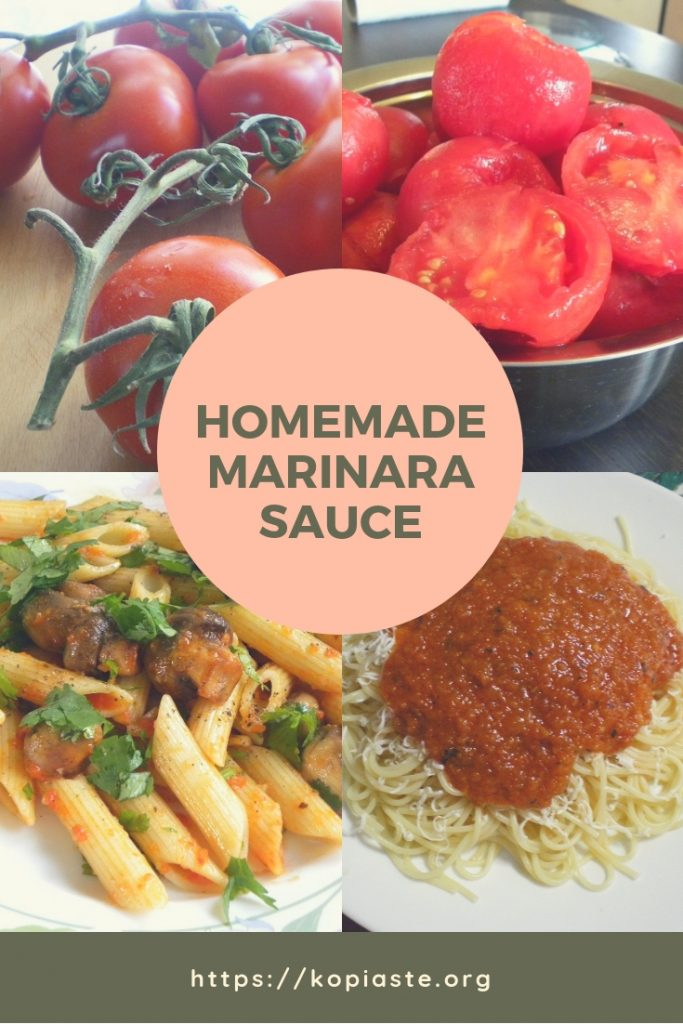 Collage Marinara sauce photo
