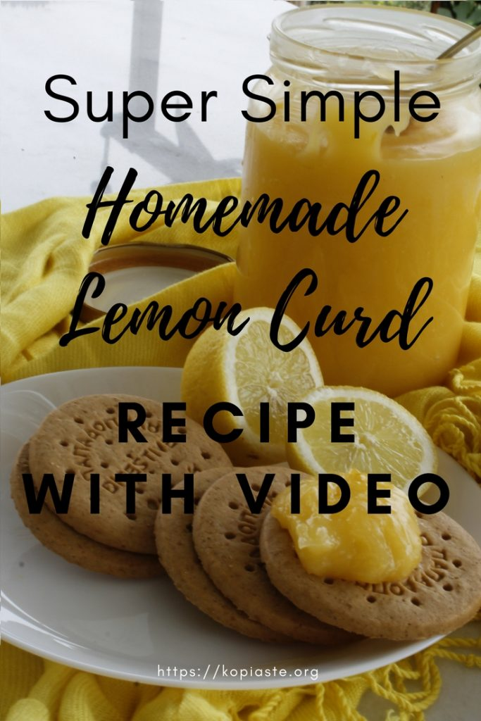 Homemade Lemon curd Pinterest Graphic image