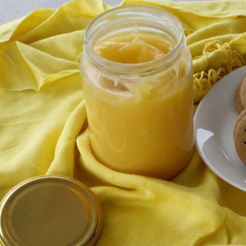 Lemon curd in a vase image