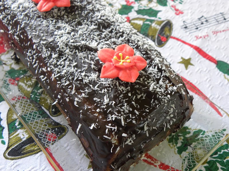 Chocolate Christmas Wafer Cake image