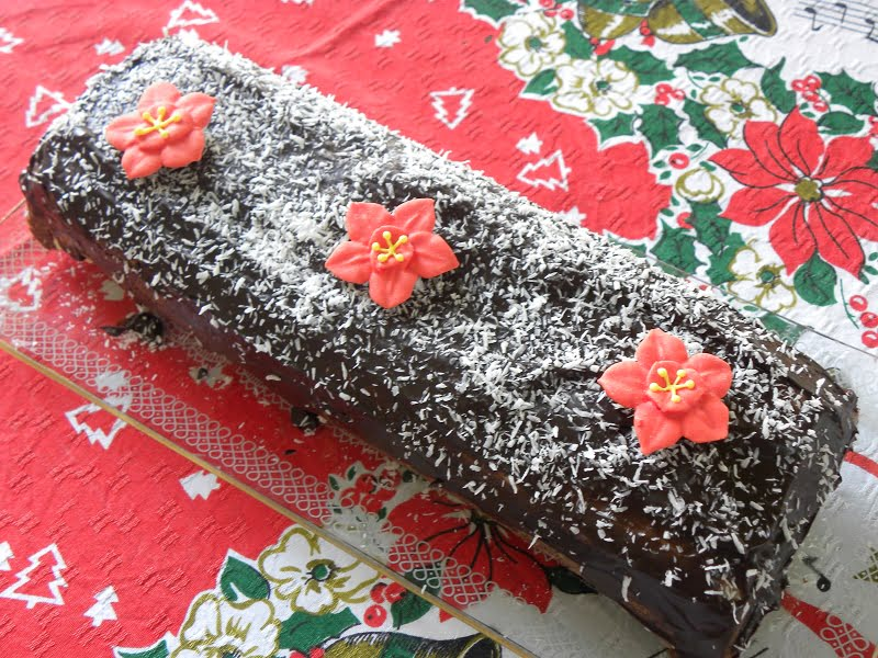 Chocolate Wafer Coconut Roulade image
