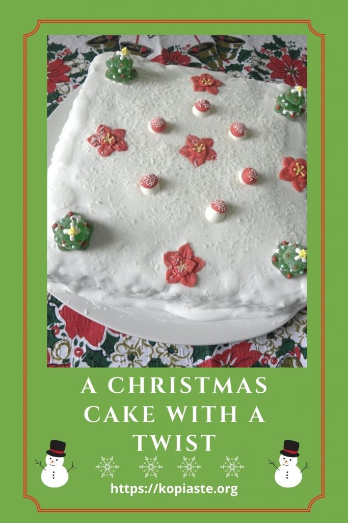 Collage A Christmas Cake with a Twist image