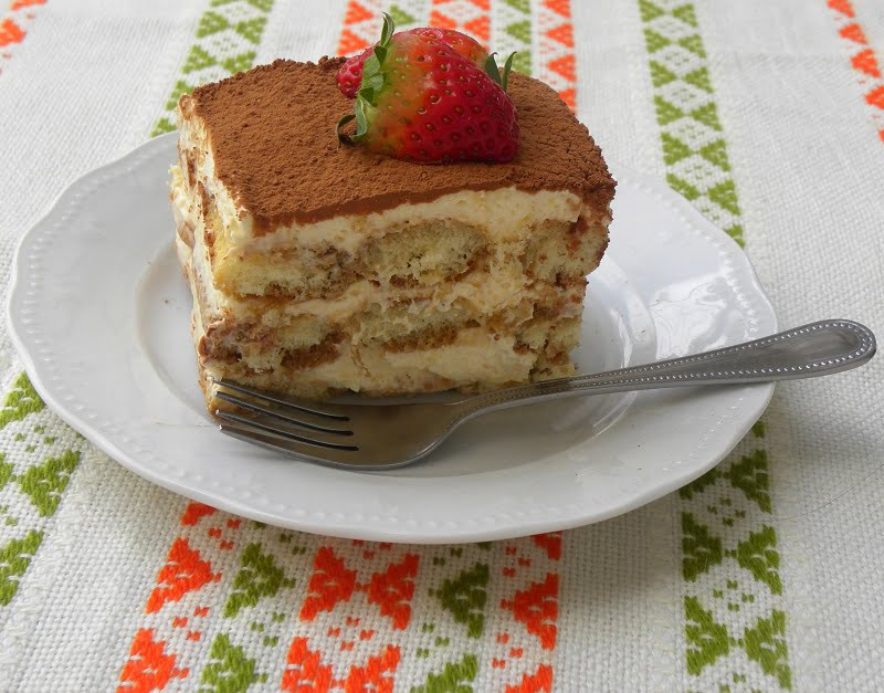 Tiramisu with espresso coffee photo