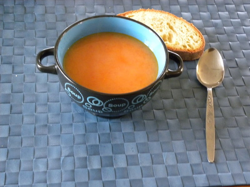 Trahanas with tomato in a bowl image