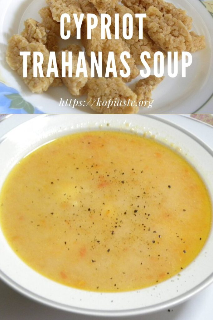 collage cypriot trahanas soup image