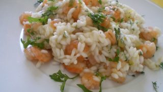 Greek Herby Shrimp Risotto