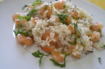 Greek Shrimp Risotto image