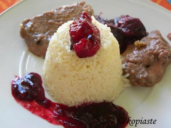 pork braised with plums